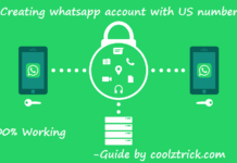 Creating whatsapp account with US number