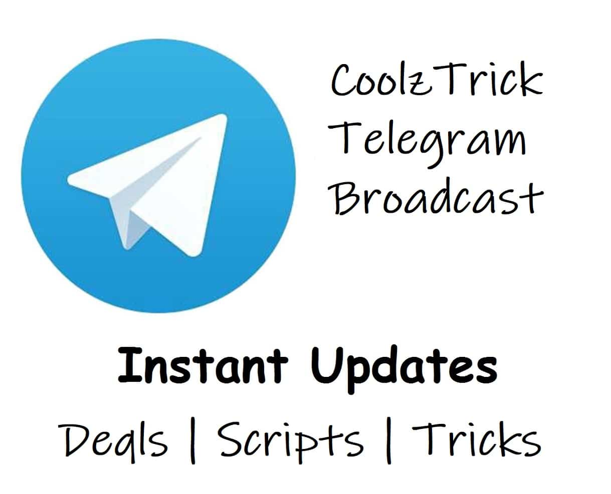 Join coolztrick telegram channel to get latest deals loots instantly loots offers and tricks we ensure you to share a latest and working deals at super fast speed so just join the telegram group and enjoy the loots ccuart Gallery