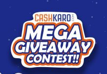 cashkaro mega giveaway