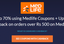 medlife cashkaro offer