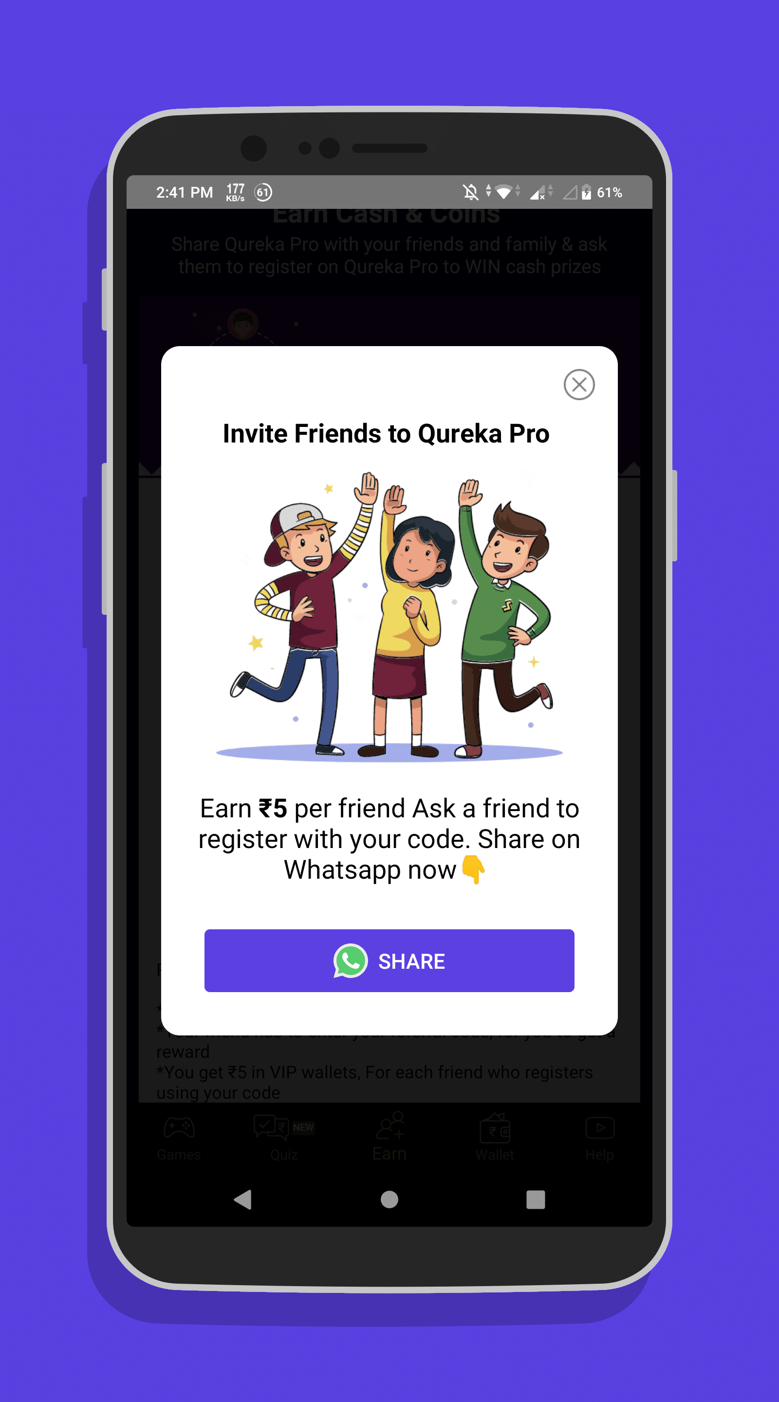 Qureka referral code