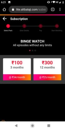 ALT Balaji Free Subcription