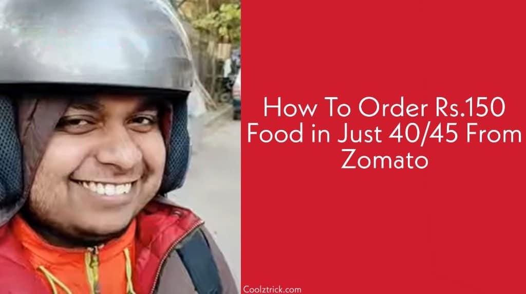 Zomato Free Order