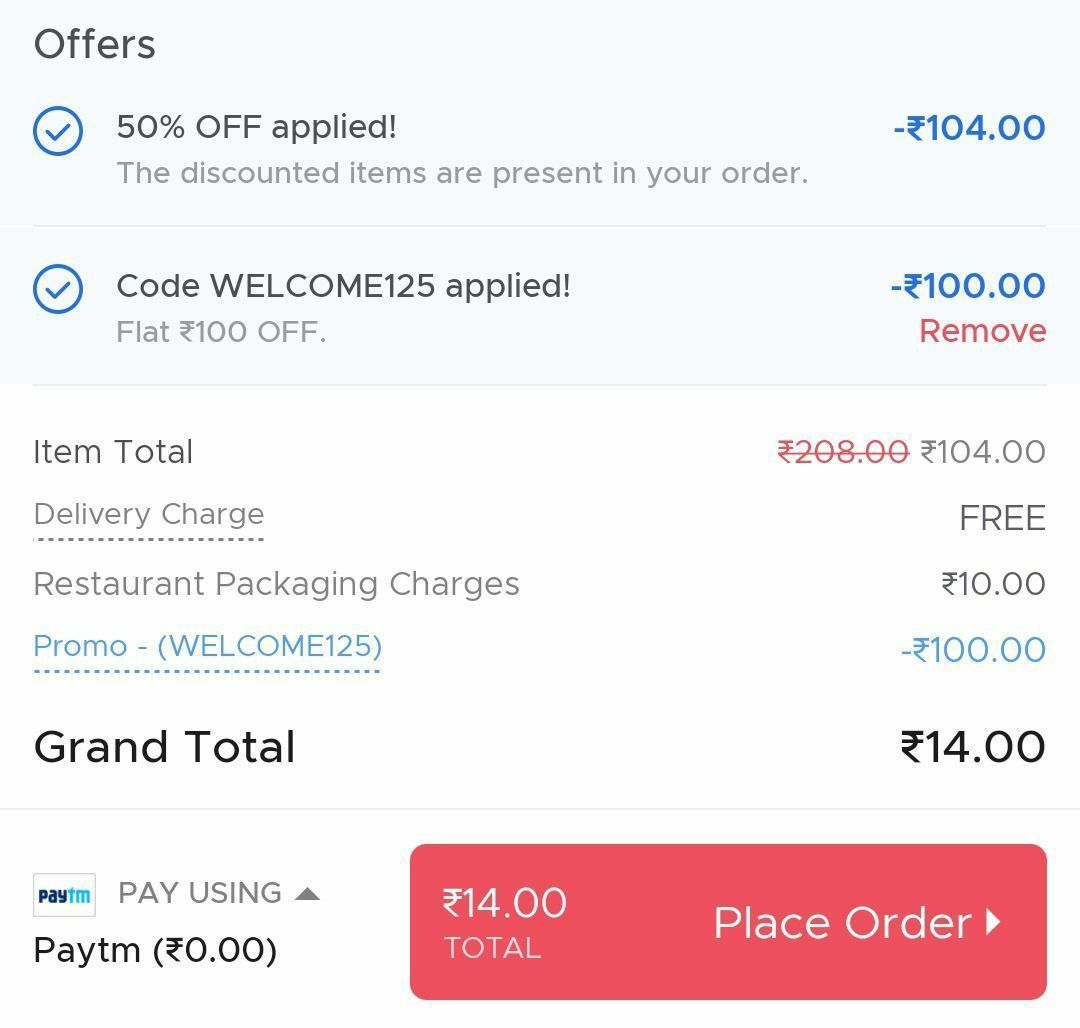 zomato free food offer